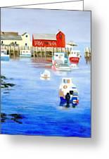 Harbor Scene Greeting Card