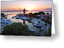 Harbor Town 4 In Hilton Head Greeting Card