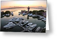 Harbor Town 5 In Hilton Head Greeting Card