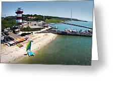 Harbor Town Beach 3 In Hilton Head Greeting Card