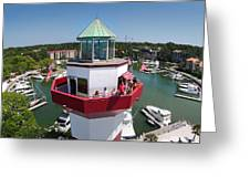 Harbor Town Lighthouse In Hilton Head Greeting Card