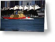 Harbor Tug Greeting Card