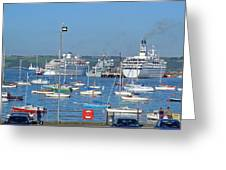 Harbour And Queen's Wharf - Falmouth Greeting Card