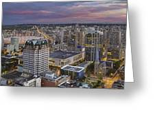 Harbour Center Lookout Vancouver Bc Greeting Card