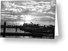 Harbour Clouds Greeting Card