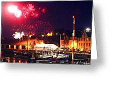 Harbour Fireworks Greeting Card