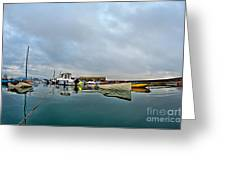 Harbour Overview 2 - Lyme Regis Greeting Card