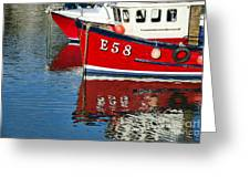 Harbour Reds Greeting Card