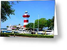 Harbour Town Lighthouse Greeting Card