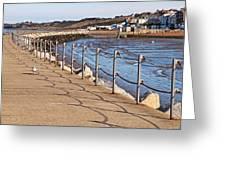 Harbour Wall Promenade Greeting Card