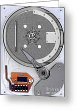 Hard Drive Greeting Card by Mike Agliolo