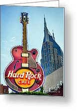 Hard Rock Cafe Nashville Greeting Card