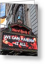 Hard Rock Cafe New York Greeting Card