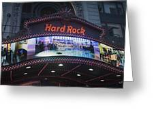 Hard Rock Marquee Nyc Greeting Card
