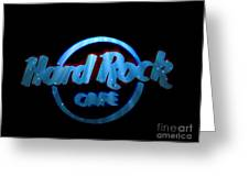 Hard Rock Neon In Space Greeting Card