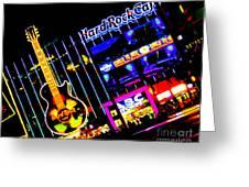 Hard Rock Vegas Greeting Card