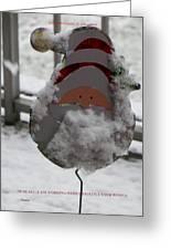 Hardworking Santa Greeting Card