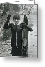 Hardy Jeannette Breaks The Ice At Rickmansworth Aquadrome Greeting Card