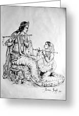 Hare Krishna Greeting Card by Tanmay Singh