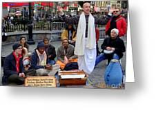 Hare Krishnas Nyc Greeting Card