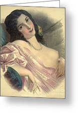 Harem Girl 1850 Greeting Card