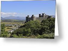 Harlech Castle Snowdonia Greeting Card
