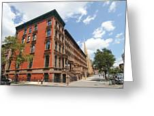Harlem Brownstones Greeting Card
