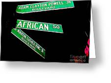 Harlem Crossroads Greeting Card
