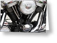 Harley Chrome And Steel Greeting Card