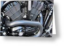 Harley Close-up Engine Close-up 1 Greeting Card
