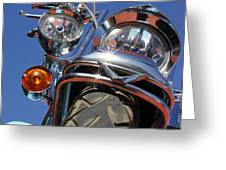Harley Close Up Greeting Card