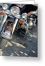 Harley Close-up W Shadow 1 Greeting Card