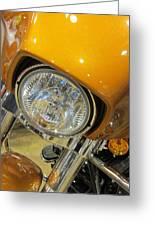 Harley Close-up Yellow 2 Greeting Card