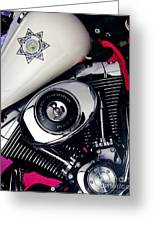 Harley Cop 2 Greeting Card