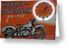 Harley Davidson 1940s Sign Greeting Card