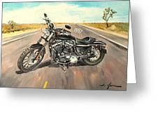 Harley Davidson 883 Sportster Greeting Card