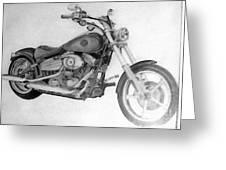 Harley Davidson Big Boy Toy Greeting Card