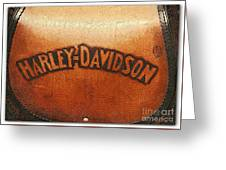 Harley Davidson Leather Tool Bag  Greeting Card