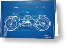 Harley-davidson Motorcycle 1919 Patent Artwork Greeting Card by Nikki Marie Smith