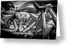 Harley Davidson Motorcycle Harley Bike Bw  Greeting Card