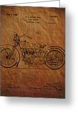 Harley Davidson Patent  Greeting Card