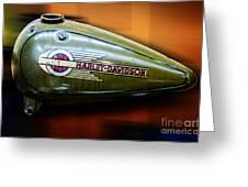 Harley-davidson Tank Logo Greeting Card