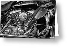Harley Davidson Ultra Classic Monochrome Greeting Card