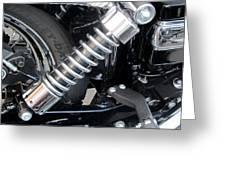 Harley Engine Close-up 2 Greeting Card