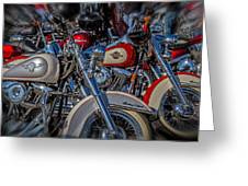 Harley Pair Greeting Card