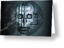 Harmagedon Blue-gray Greeting Card