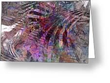 Harmonic Resonance - Square Version Greeting Card