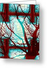 Harmonious Colors - Red White Turquoise Greeting Card