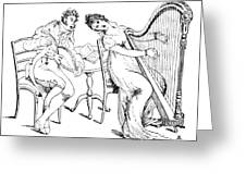 Harmony Before Matrimony, 1886 Greeting Card