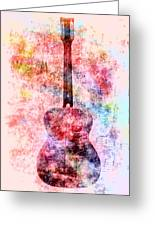Harmony Guitar Notes Greeting Card